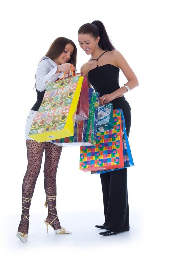 Het bedrijfs dame winkelen royalty-vrije stock afbeelding