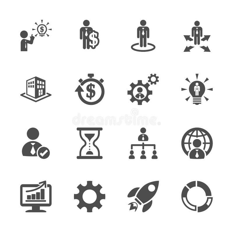Het bedrijfs en beheerspictogram plaatste 4, vectoreps10 vector illustratie