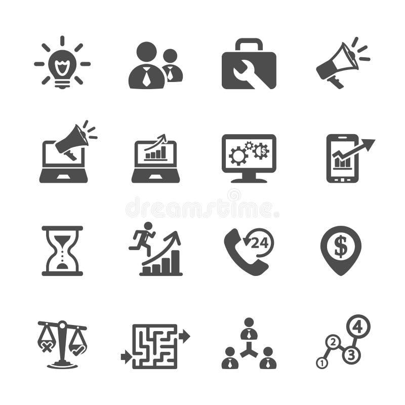 Het bedrijfs en beheerspictogram plaatste 8, vectoreps10 vector illustratie