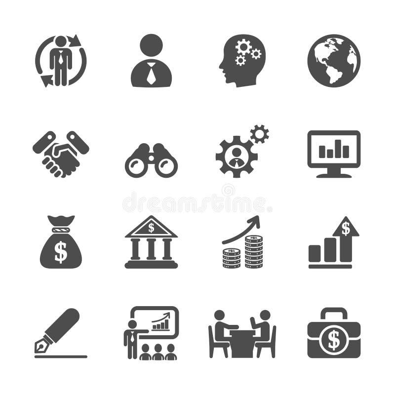 Het bedrijfs en beheerspictogram plaatste 2, vectoreps10 stock illustratie