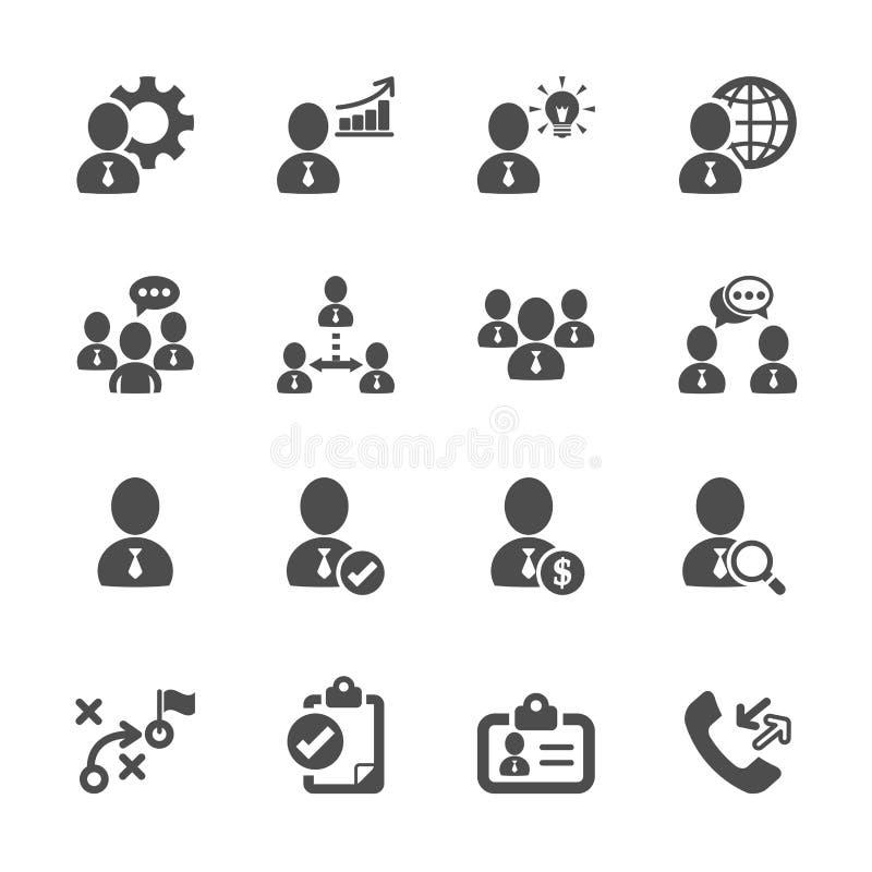 Het bedrijfs en beheerspictogram plaatste 10, vectoreps10 vector illustratie