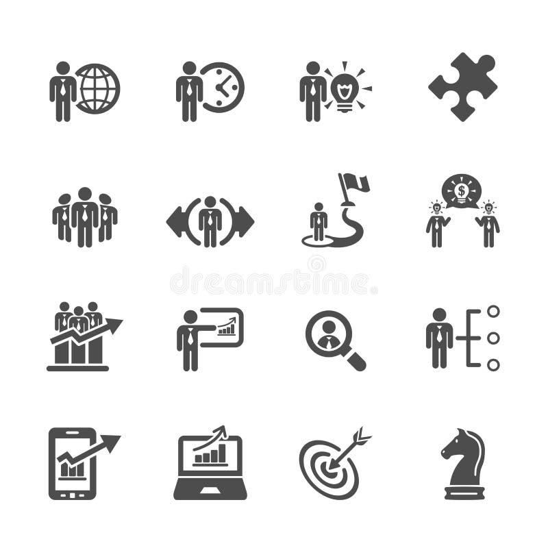 Het bedrijfs en strategiepictogram plaatste 3, vectoreps10 vector illustratie