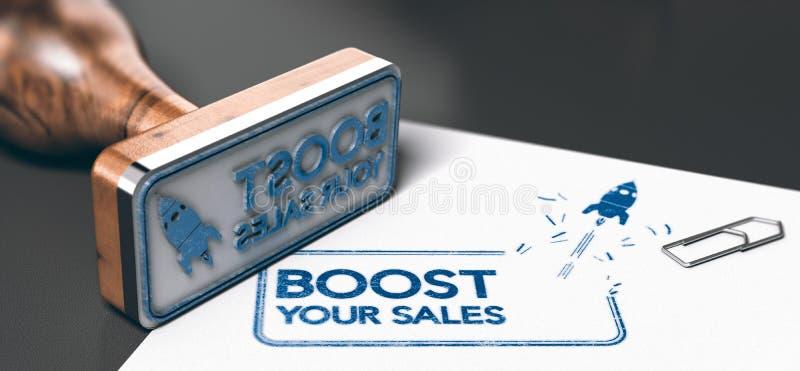 Het bedrijfs of Marketing Concept, voert Uw Verkoop op stock illustratie
