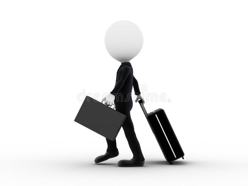 Het bedrijfs mens reizen royalty-vrije illustratie
