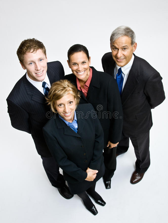 Het bedrijfs mensen glimlachen royalty-vrije stock foto's