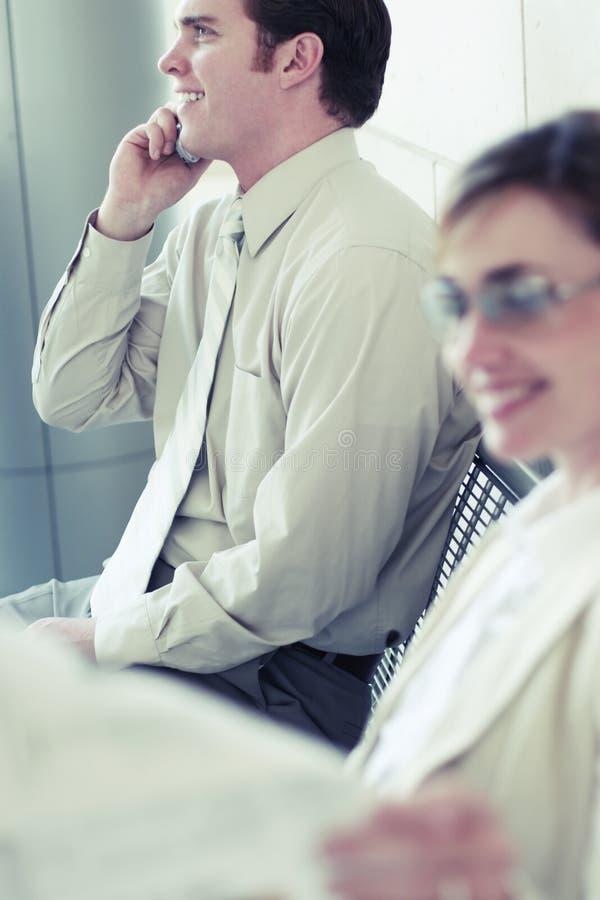Het bedrijfs mensen glimlachen royalty-vrije stock afbeeldingen