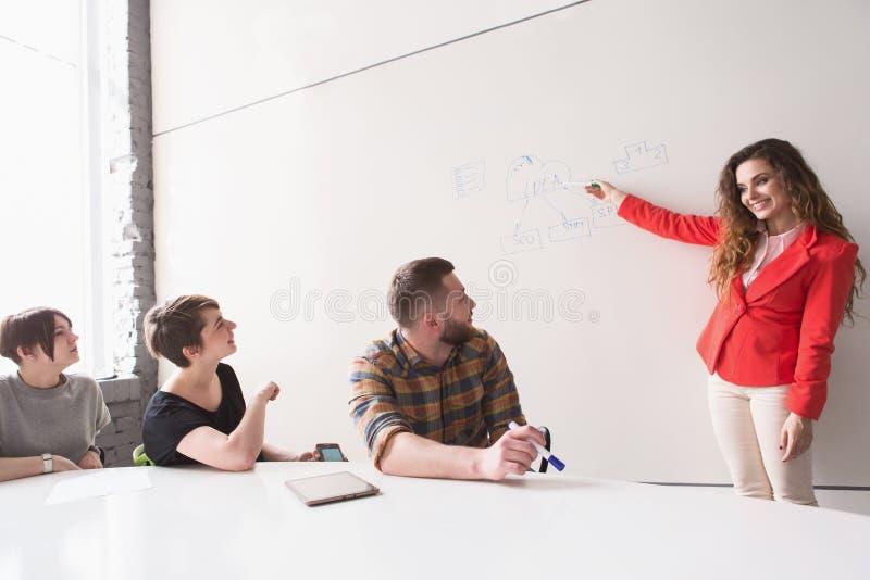 Het bedrijfs metting in bureau royalty-vrije stock foto's