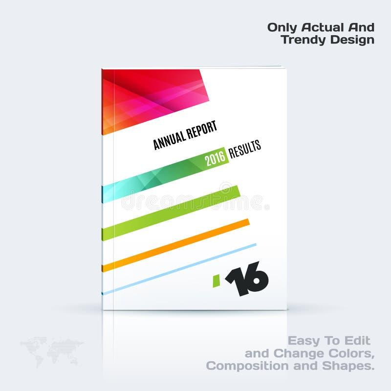 Het bedrijfs vectormalplaatje, brochureontwerp, vat jaarverslag samen, behandelt moderne lay-out, vlieger in A4 stock illustratie