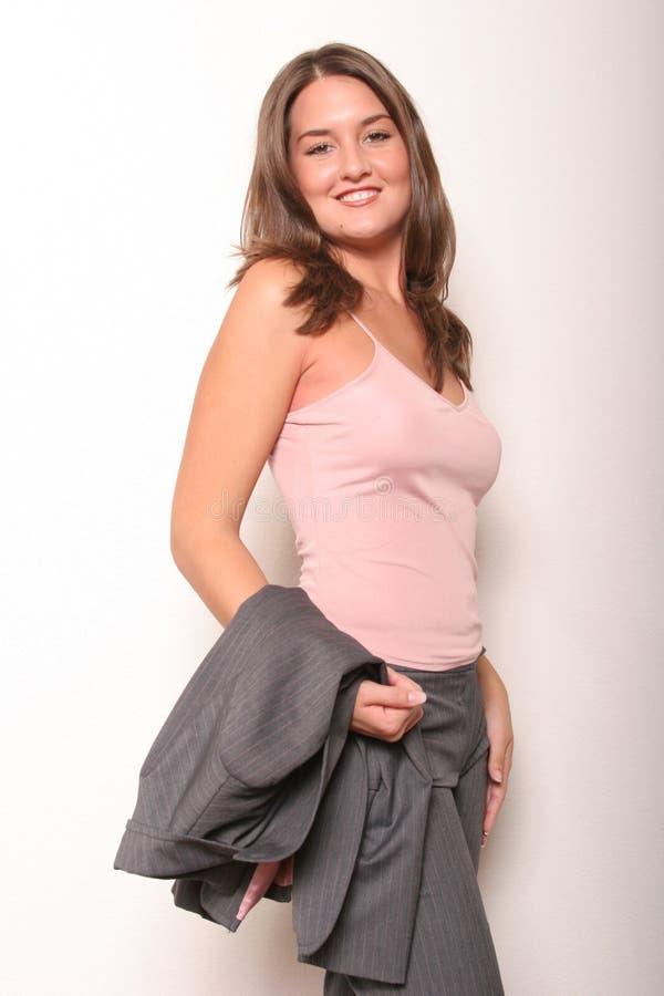 Het bedrijfs vrouw glimlachen stock afbeelding