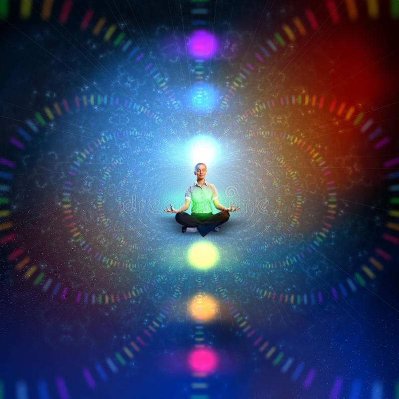 Download Het Bedrijfs Vrouw Mediteren Stock Foto - Afbeelding bestaande uit positie, omhoog: 29511480