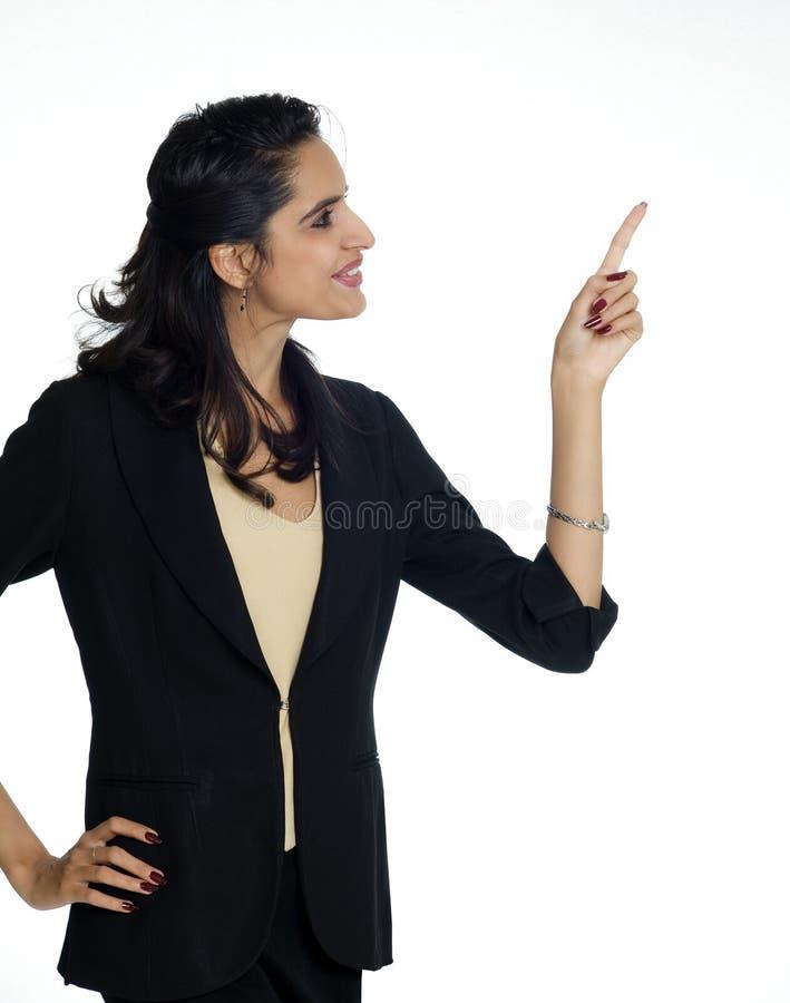 Het bedrijfs vrouw richten stock foto
