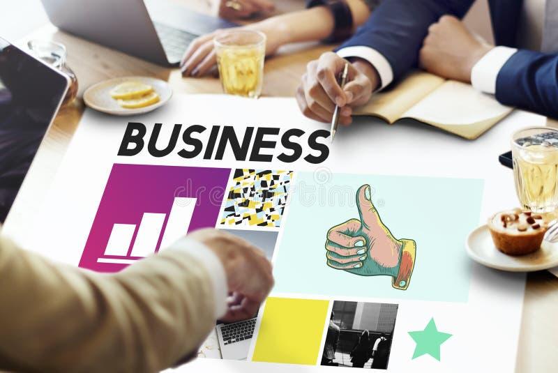 Het Bedrijfsconcept van de bedrijfsstrategiegroei stock foto's