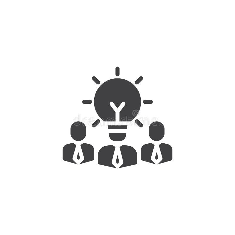 Het bedrijfsidee denkt vectorpictogram vector illustratie