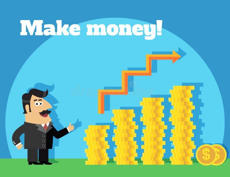Het bedrijfsleven maakt geldconcept stock illustratie