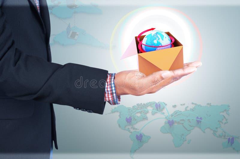 Het bedrijfsleven van de zakenmanholding stock afbeeldingen