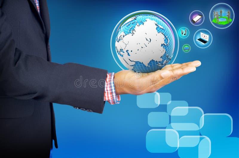 Het bedrijfsleven van de zakenmanholding stock afbeelding