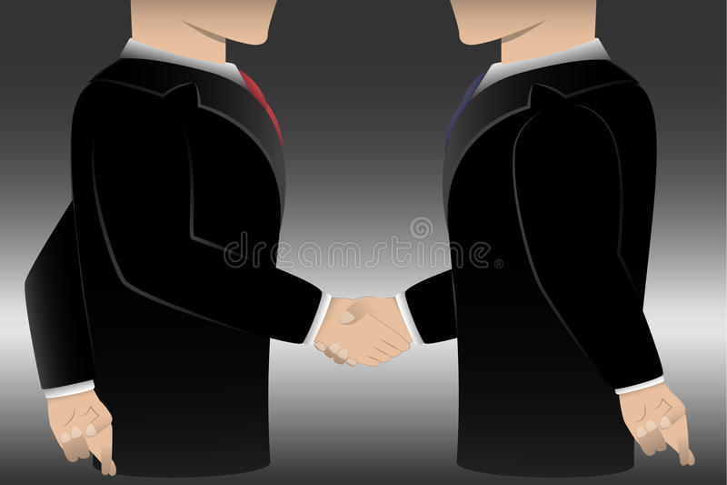 Het bedrijfsmens bedriegen royalty-vrije illustratie