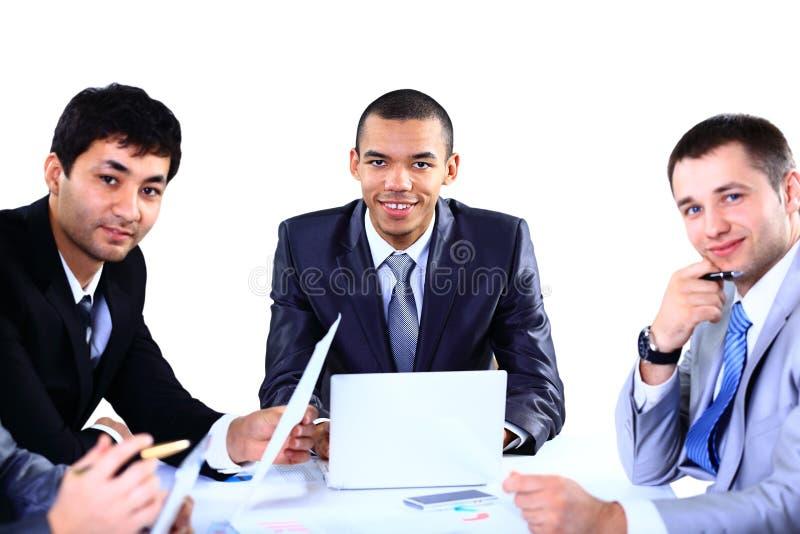 Het bedrijfsmensen bespreken stock afbeelding