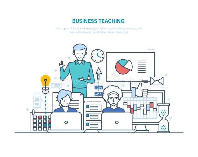 Het bedrijfsonderwijs Professionele bedrijfs opleiding, seminaries, collectieve opleiding, het raadplegen vector illustratie
