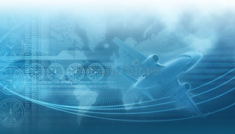 Het bedrijfsontwerp van de reis en stock illustratie