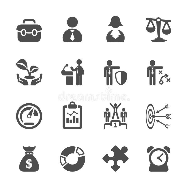 Het bedrijfspictogram plaatste 2, vectoreps10 royalty-vrije illustratie
