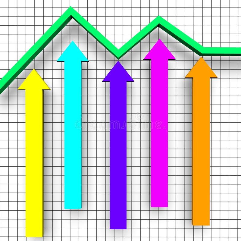 Het bedrijfsrapport toont Statistisch Document en Handel vector illustratie