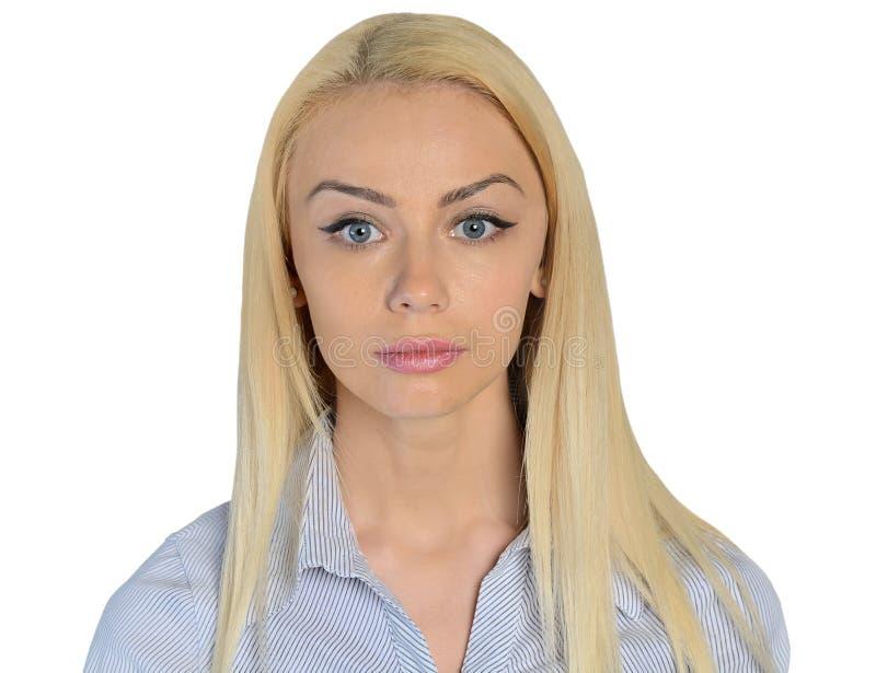 Het bedrijfsvrouw dromen gezicht stock foto