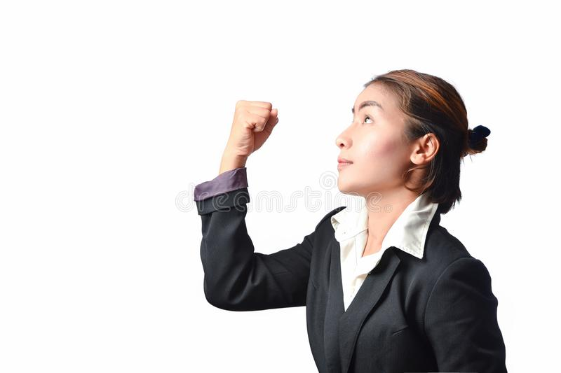 Het bedrijfsvrouw vechten stock fotografie