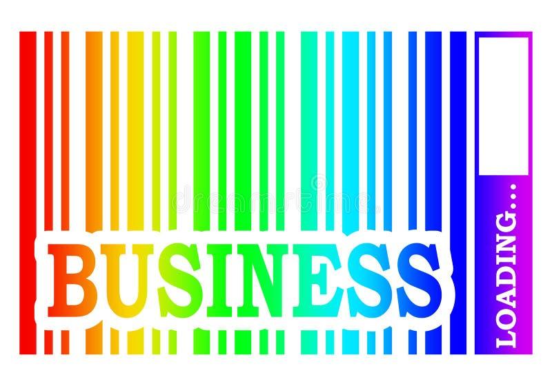 Het bedrijfswoord bouwt streepjescode in royalty-vrije illustratie