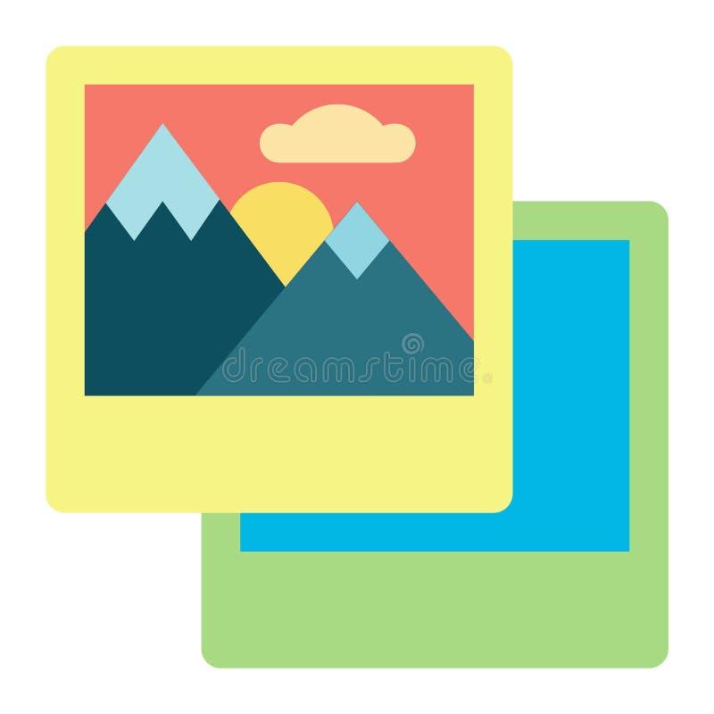 Het beeld of fotoomslagsymbool op androïde smartphone of iphone royalty-vrije illustratie