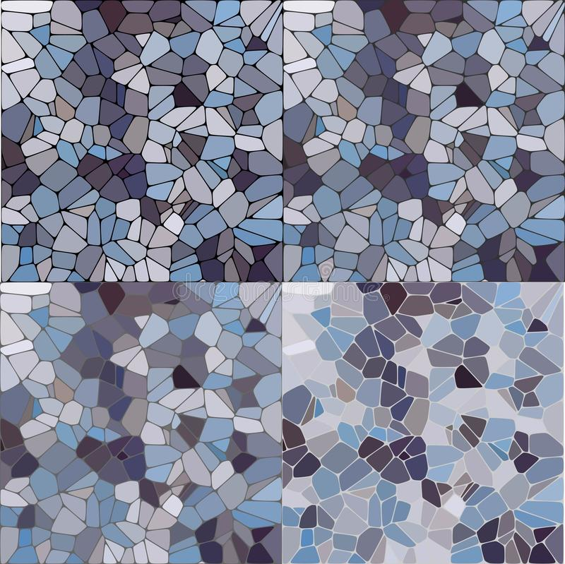Het beeld kan als achtergrond worden gebruikt Vectorachtergrond met vlotte kiezelsteen Natuurlijke natte de kiezelsteen vectorill royalty-vrije illustratie