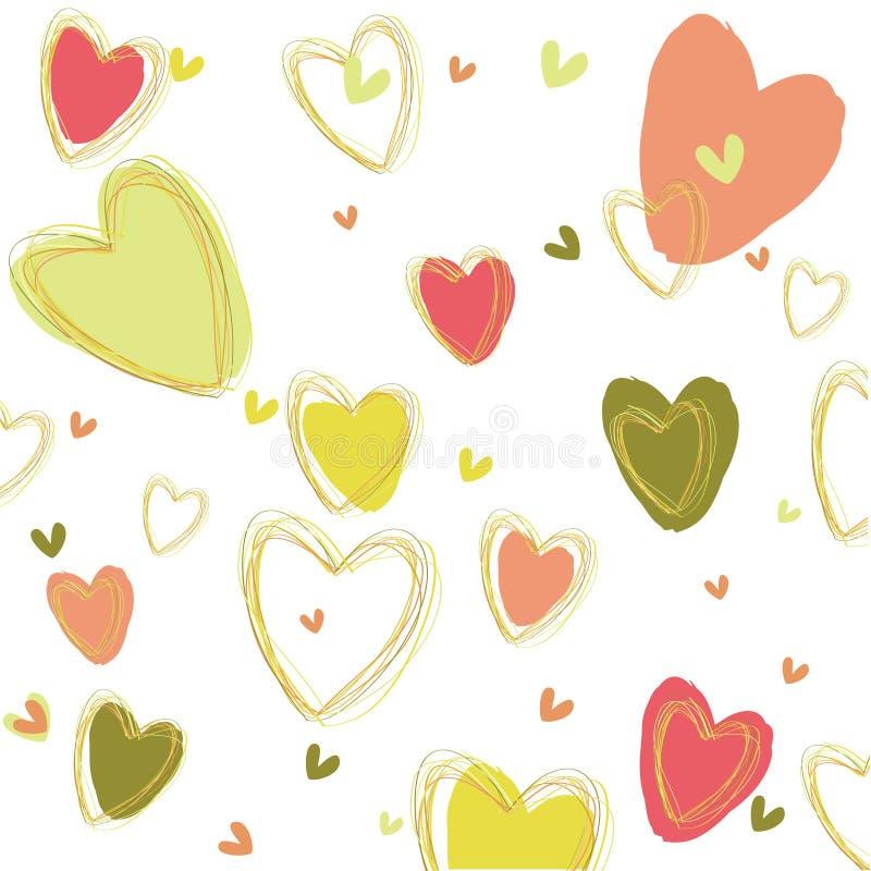 Het beeld met hart. stock illustratie