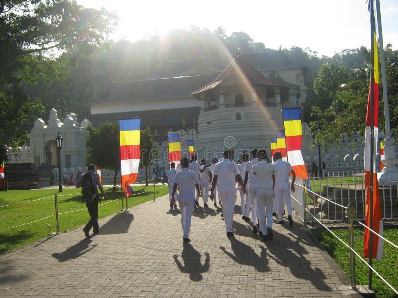 Het beeld is in Sri Lanka de plaats is Dalada-maligaya Sri Lanka royalty-vrije stock fotografie