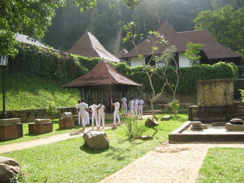 Het beeld is in Sri Lanka de plaats is Dalada-maligaya Sri Lanka royalty-vrije stock foto's