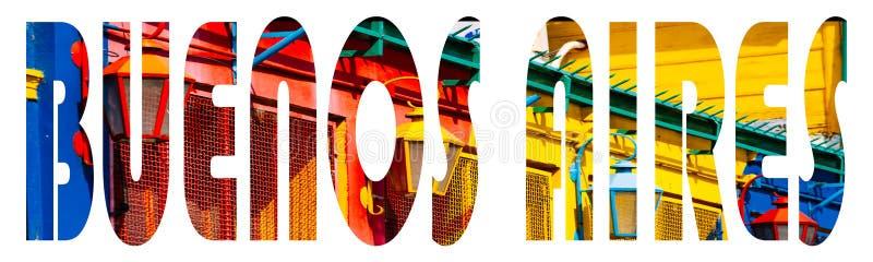 Het beeld van Buenos aires binnen tekst vector illustratie