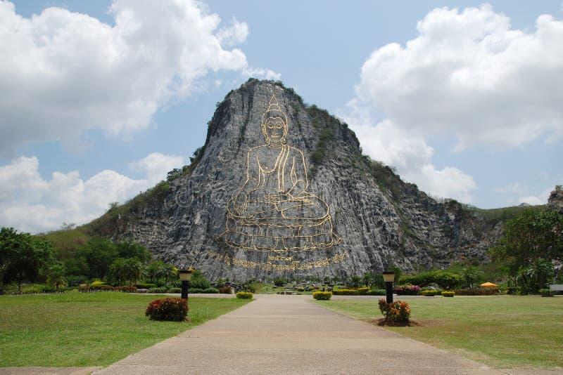 Het beeld van Chan Boedha van de Chi van Khao van Wat van Thailand stock afbeeldingen