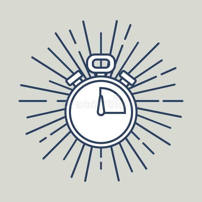 Het beeld van het chronometerpictogram vector illustratie