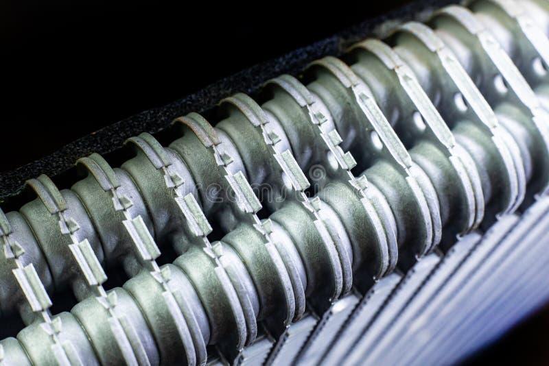 Het beeld van de de auto dichte omhooggaande textuur van Airconditioningsrollen stock foto's