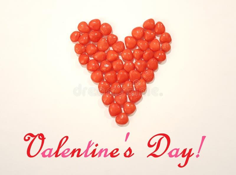 Het Beeld van de de Daggroet van Valentine met het Hartsuikergoed van het Kaneelsuikergoed stock fotografie
