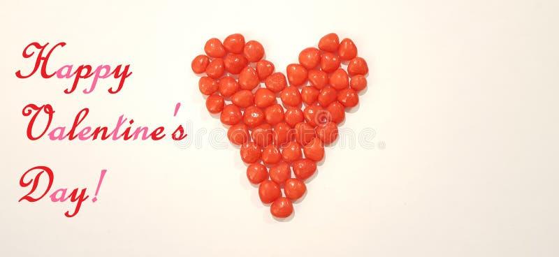 Het Beeld van de de Daggroet van Valentine met het Hartsuikergoed van het Kaneelsuikergoed royalty-vrije stock foto's