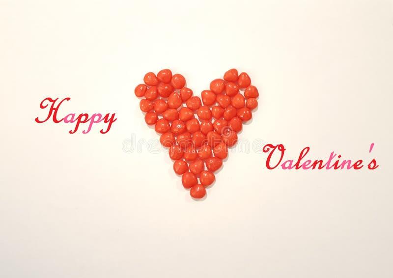 Het Beeld van de de Daggroet van Valentine met het Hartsuikergoed van het Kaneelsuikergoed stock foto