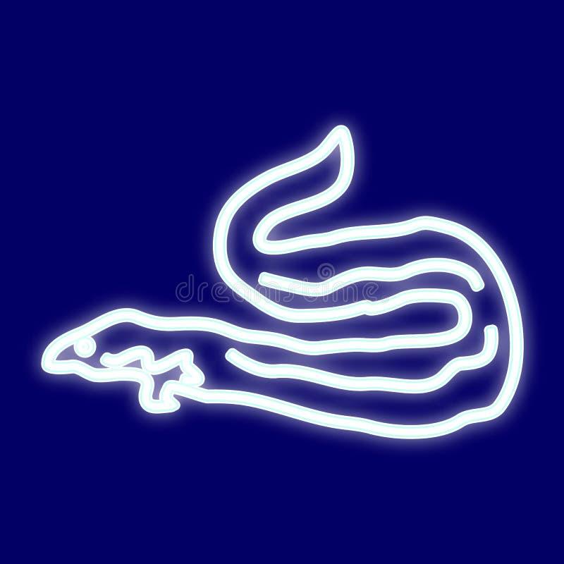 Het beeld van de palingen van vissenmoray vector illustratie