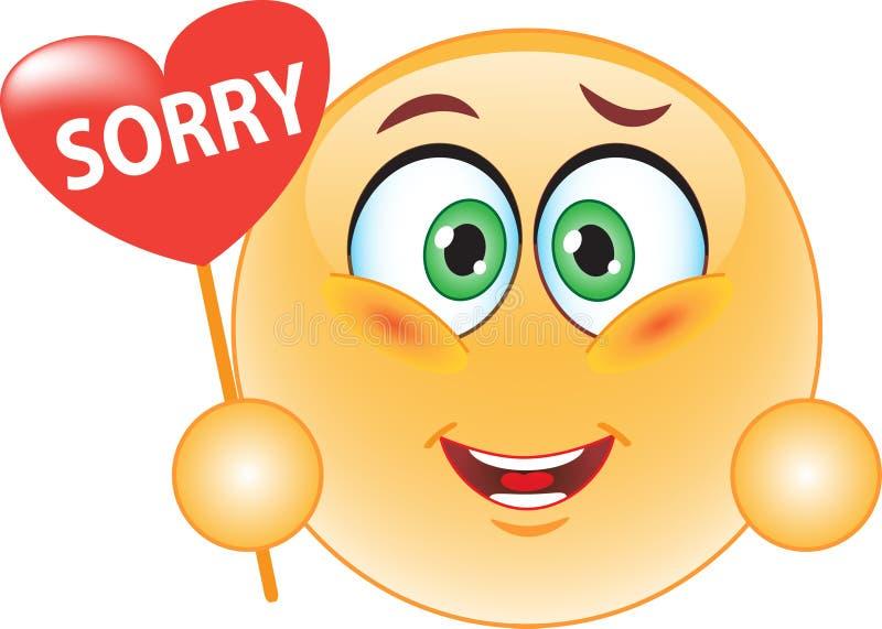 Smiley, een verontschuldiging. vector illustratie