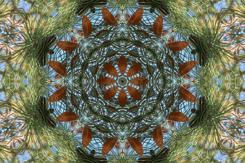 Het beeld van de voorraad van de Caleidoscoop van de Herfst stock illustratie