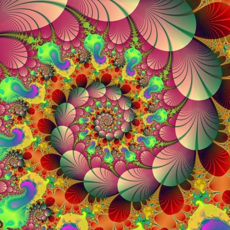 Het beeld van de voorraad van Fractal de Achtergrond van de Herfst vector illustratie