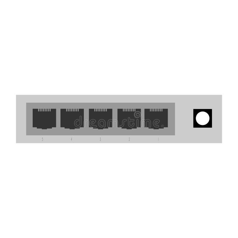 Het beeld van de voorzien van een netwerkschakelaar dat in Webtoepassingen, m moet worden gebruikt royalty-vrije illustratie