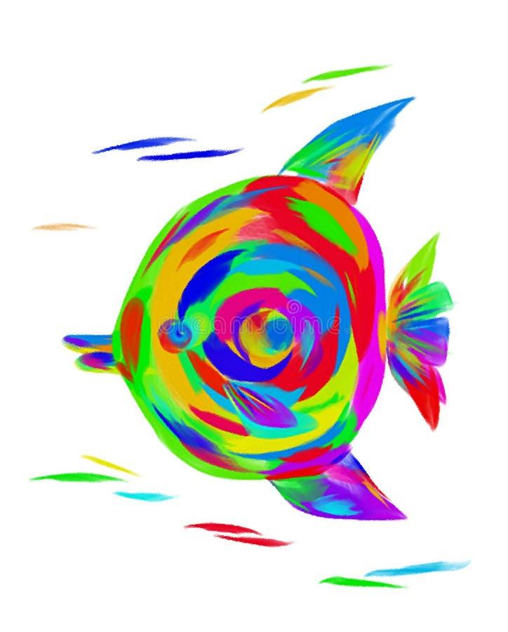 Het beeld van een heldere engel van regenboogvissen stock fotografie