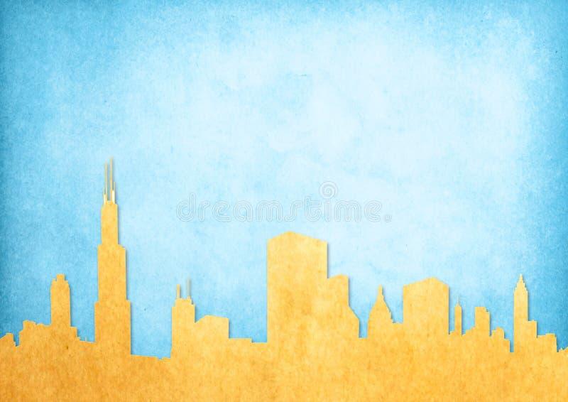 Het beeld van Grunge van cityscape vector illustratie
