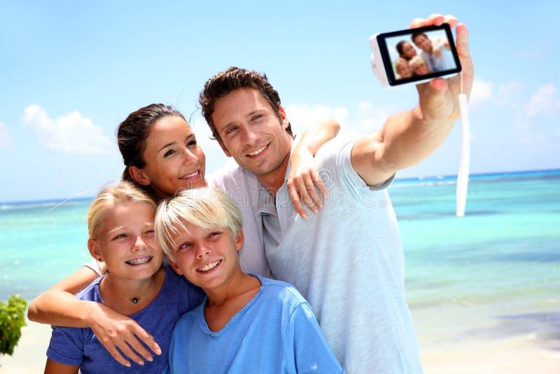Het beeld van het familieportret stock afbeelding