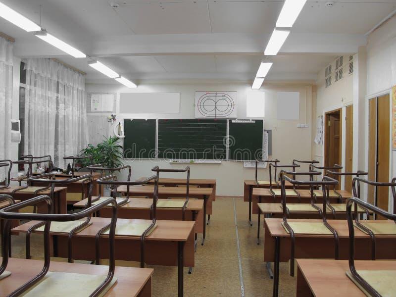 Het beeld van leeg klaslokaal stock afbeelding